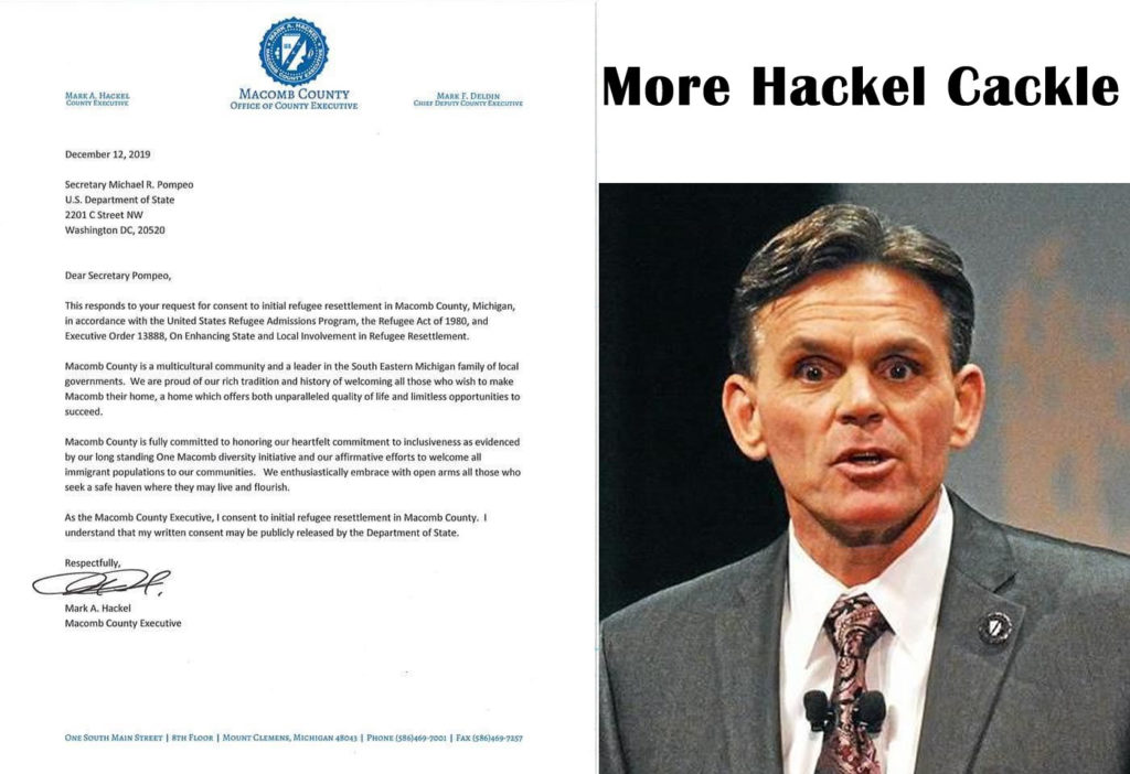 Hackel asks DC for More Refugees